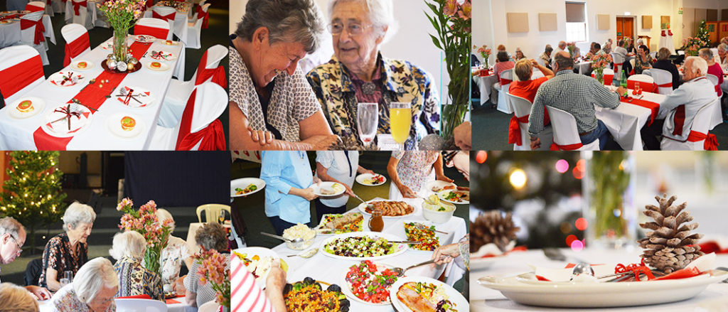 Church events - Christmas lunch for the seniors.